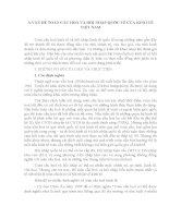 BÀI BÁO CÁO THỰC TẬP-VẤN ĐỀ TOÀN CẦU HOÁ VÀ HỘI NHẬP QUỐC TẾ CỦA KINH TẾ VIỆT NAM