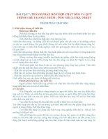BÀI TẬP 7: THÀNH PHẦN HỖN HỢP CHẤT DẺO VÀ QUY TRÌNH CHẾ TẠO SẢN PHẨM : ỐNG NHỰA CHỊU NHIỆT