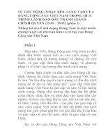 BÁO CÁO THỰC TẬP-SỰ CHỦ ĐỘNG, NHẠY BÉN, SÁNG TẠO CỦA ĐẢNG CỘNG SẢN VIỆT NAM TRONG QUÁ TRÌNH LÃNH ĐẠO ĐẤU TRANH GIÀNH CHÍNH QUYỀN (1930 – 1945) (phần I)