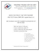 BÀI BÁO CÁO THỰC TẬP-Bệnh viện Nguyễn Tri Phương-CT CỔ PHẦN DƯỢC PHẨM 3-2-CT CỔ PHẦN DƯỢC LIỆU TW II- NHÀ THUỐC TƯ NHÂN BÍCH THỦY