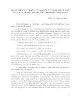 QUAN điểm của ĐẢNG, NHÀ nước về PHÁT TRIỂN văn HOÁ, xây DỰNG CON NGƯỜI TRONG GIAI đoạn mới