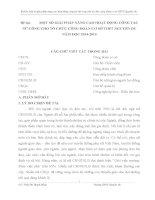 MỘT SỐ GIẢI PHÁP NÂNG CAO HOẠT ĐỘNG CÔNG TÁC NỮ CÔNG CHO TỔ CHỨC CÔNG ĐOÀN CƠ SỞ THPT NGUYỄN DU NĂM HỌC 20142015