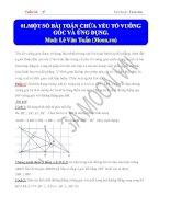 Một số bài toán chứa yếu tố vuông góc