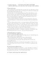 VẬN DỤNG DẠY HỌC TÍCH HỢP TRONG MÔN ĐỊA LÍ Ở TRƯỜNG TRUNG HỌC PHỔ THÔNG