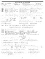 Chuyên đề ôn thi vật lý