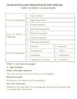 hướng dẫn làm bài tự luận Tiếng Anh kỳ thi THPT Quốc gia 2016