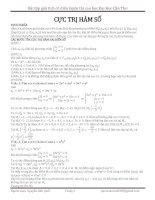 Bài tập giải tích cổ điển cực trị hàm số ôn thi cao học