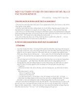 Ôn thi TN chủ đề Địa lý các ngành kinh tế (2)