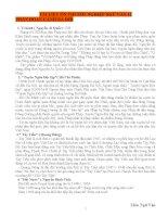 TÀI LIỆU ÔN THI TỐT NGHIỆP NGỮ VĂN 12