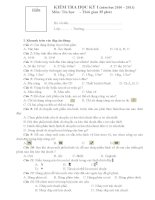 Đề kiểm tra tin học kỳ I