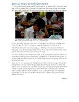 Nop ho so thi tot nghiep truoc ngay 25/4/2011