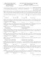 đề thi thử vật lý 12