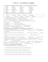 bài tập tiếng anh lớp 10 unit 11
