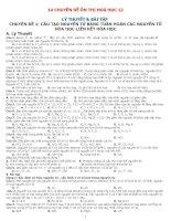 Bài tập tổng hợp các chuyên đề hóa học 12 có đáp án