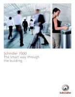 Schindler 7000  TRM brochure  The smart way through the building