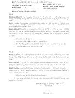 Bộ đề thi học kỳ 2 môn nhiệt kỹ thuật năm 2012   đh CN TP HCM
