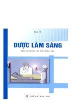GIÁO TRÌNH dược lâm sàng sách đào tạo dược sĩ đại học