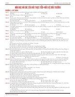 Bài tập trắc nghiêm hóa học và các câu hỏi thực tiễn