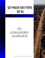 Bài giảng quy hoạch giao thông đô thị   bài 3  quy hoạch hệ thống giao thông đô thị