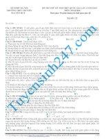 40 đề thi THPT quốc gia môn Sinh học cực hay (có đáp án kèm lời giải chi tiết) của Tuyensinh247.com