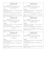 6 đề kiểm tra 1 tiết toán 10