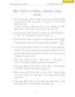 Chuyên đề hình học 9 nâng cao