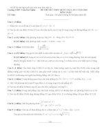 Bộ đề thi thử thpt quốc gia môn toán kèm đáp án