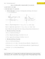 Sự đồng biến và nghịch biến của hàm số