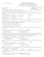 Đề thi thử THPT quốc gia 2015 hóa học có giải chi tiết