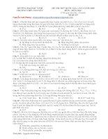 Đề thi thử THPT quốc gia 2015 hóa học Chuyên Vinh