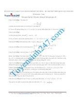 Tuyển chọn 30 đề thi thử THPT quốc gia 2015 môn  Toán (có đáp án chi tiết kèm theo)