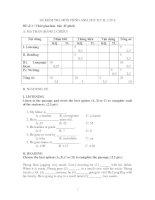 Đề thi HK II môn Tiếng Anh 6.1