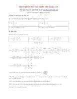 Tổng hợp bài tập giới hạn