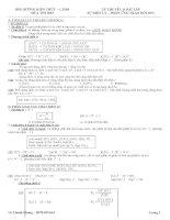 Lý thuyết và bài tập điện ly