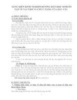 SÁNG KIẾN KINH NGHIỆM HƯỚNG dẫn học SINH ôn tập về VAI TRÒ và CHỨC NĂNG của dấu câu