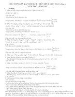 Đề cương ôn tập HK1 môn toán hình 11 năm học 2010 -2011
