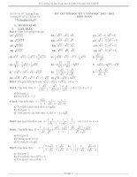 đề cương ôn tập toán 9 học kì 1