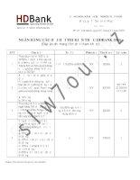 tài liệu ôn thi tuyển dụng ngân hàng chọn lọc rất hay