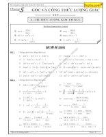 Bài tập công thức lượng giác