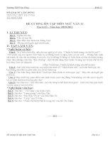 DE CUONG ON TAP VAN 11-HKII