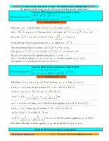 Tổng hợp hệ phương trình trong đề thi đại học