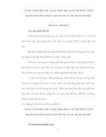 NÂNG CAO HIỆU QUẢ DẠY HỌC ĐỊA LÍ Ở TRƯỜNG THPT BẰNG PHƯƠNG PHÁP XÂY DỰNG VÀ SỬ DỤNG SƠ ĐỒ.