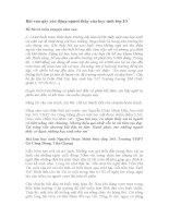 Bài văn gây xúc động người thầy của học sinh lớp 10