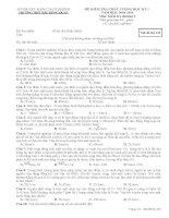 Đề kiểm tra kiến thức chương 2+3 VL12NC