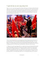 ý nghĩa thời đại của Cách mạng Tháng Mười Nga