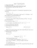 Hệ phương trình cơ bản và ôn thi đại học