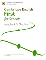 First for Schools Handbook for Teachers Nov 2010