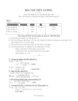 Bài tập Tiền Lương có đáp án chi tiết rất hay