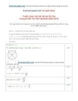 Tuyển chọn hệ tọa độ oxy trong các đề thi thử 2015 có lời giải