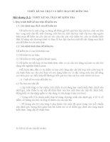 THIẾT KẾ MA TRẬN VÀ BIÊN SOẠN ĐỀ KIỂM TRA